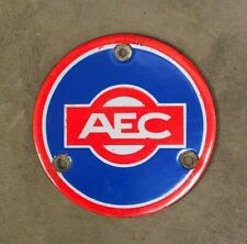 AEC ENAMEL BUS TRUCK LORRY COMMERCIAL TRANSPORT HUB DISK BADGE EMBLEM