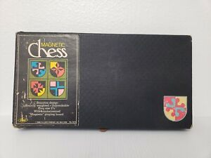 Vintage Magnetic Chess Set Staunton Design by E.S.Lowe Co. Inc. 1968