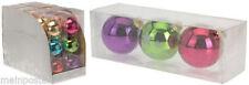 Kristall mit Kugel- & Christbaumschmuck aus Glas