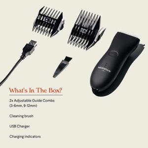 Electric Trimmer Men Hair Waterproof Groin & Body Shaver Trim USB Charging