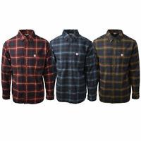 Carhartt Men's S01 Classic Rugged Flex Plaid L/S Flannel Shirt (Retail $60)