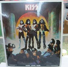 KISS POSTER PUT ON SELF ADHESIVE STICKER OOP METAL ROCK  VINTAGE 1977 LOVE GUN
