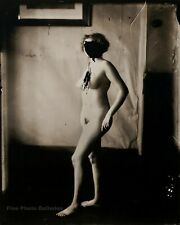 1912 Vintage EJ BELLOCQ New Orleans Female Nude Prostitute Room Photo Art 12x16