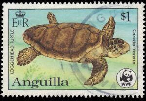 "ANGUILLA 540 (SG563A) - World Wildlife Fund ""Loggerhead Turtle"" (pa95015)"
