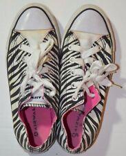 AIRWALK Zebra Print Canvas Sneakers Tennis Shoes size 7 flat