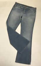 "7 For All Mankind 30 Women's Light Wash Flare Jeans Cotton Blend 30"" Inseam Euc"