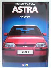 VAUXHALL NEW ASTRA PREVIEW 1984 U.K SALES BROCHURE