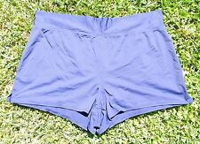 Lands End Swim Cover Shorts - Fold Over Waist - Navy Blue - Womens 18 - EUC!