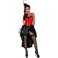 Costumes Aussie Seller Red Valentina Burlesque Corset With Bustle Skirt Option