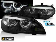 Scheinwerfer BMW X5 E70 07-10 Angel Eyes DRL LED Schwarz HID DE LPBMJ8-ED XINO D
