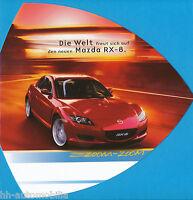 Mazda RX-8 Prospekt 2003 7/03 brochure Autoprospekt PERFEKTE VERPACKUNG