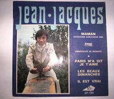 DISQUE 45T JEAN JACQUES MAMAN / EUROVISION 1969