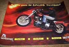 HARLEY DAVIDSON 1997 SEGA ORIGINAL NOS VIDEO ARCADE GAME 30X22 MOTORCYCLE POSTER