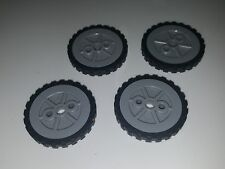Lot of 4 K'nex Wheels 1.75 inch Tires & Rims Replacement Pieces Parts Knex