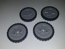 Lot of 4 K'nex Wheels 1.75 inch Tires & Rims Replacement Pieces Parts Knex