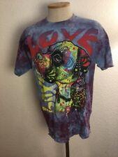 The Mountain Boxer Dog Love Tie Dye T-shirt Size Large