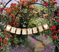 Mr & Mrs Vintage Wedding Bunting Cardboard Wedding Decoration UK SELLER
