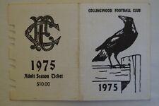 Collingwood Magpies Vintage 1975 AFL-VFL Football Members Season Ticket Card