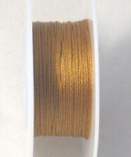 Silkon #1 Light Weight Bonded Nylon Beading Thread 20 Yard Spool Light Brown