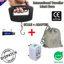 International Traveler Must Have : Portable Luggage Scale + Universal Adapter