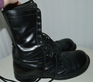 CORCORAN Steel Toes Leather Boots Field Lace Up Mens 10 Wide USA Jump Military