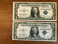 1935D $1  Silver Certificate   1935 D   Wide & Narrow Set