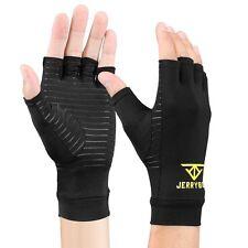 Jerrybox Arthritis Gloves Fingerless Copper Gloves Compression Medical Support M