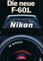 NIKON - Die neue F-601. - Prospekt - B2192