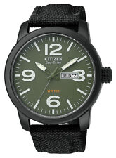 Citizen Eco-Drive Men's BM8475-00X Date Green Dial Black Nylon Strap 42mm Watch
