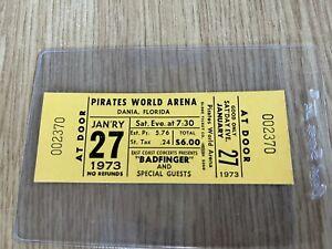 Badfinger original Concert Ticket January 27, 1973 Dania, Florida Beatles
