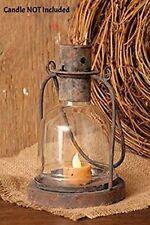 New Primitive Country Rustic Black Metal Candle Holder Lantern Hanging Lamp