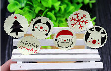 CHRISTMAS Stickers XMAS CUTE  Labels Seals Stickers Decoration Gift 12 pcs