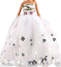 Handwork soft Princess Party Dress/Evening Clothes/Gown For Barbie Doll  1102