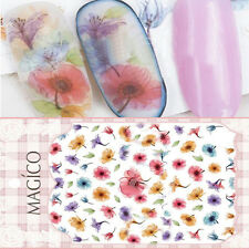 Ultrathin Adhesive 3D Nail Art Stickers Tattoos Flower Nail Decals Decoration