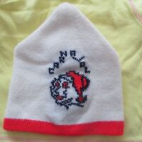 VINTAGE CARNAVAL de QUEBEC winter snow HAT TOQUE BEANIE TUQUE BONHOMME *