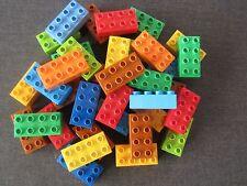 20 LEGO DUPLO GRUNDBAUSTEINE BAUSTEINE STEINE BRÜCKEN PLATTEN 2 x 4 NOPPEN 8er