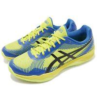Asics Volley Elite FF Energy Green Blue Men Badminton Volleyball Shoe B701N-7743