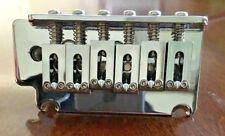 2 Point Strat Type Tremolo System Bridge - 6 String-Chrome - New