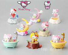 8X Lovely Hello Kitty PVC Action Figures Cake Toppers Toy Doll 6CM Gift Boxed