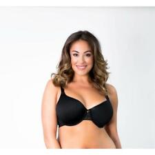 NEW Curvy Couture Fantasia Spacer Bra 1131-Black-Size 38H