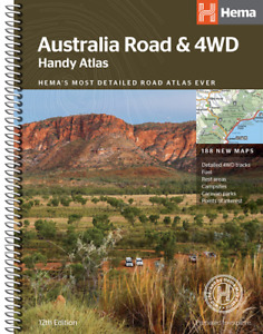 Hema Australia Road & 4WD Handy Atlas 12th Edition Spiral 188 New Maps Tracks