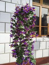 1 Bunch Artificial Violet Hanging Garland Vine Flower Trailing Bracket Plant Hot