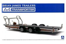 AOSHIMA SCALA 1/24 Brian James Trailers A4 TRANSPORTER MODEL KIT * Diorama utilizzare *