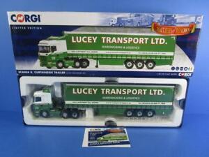 CORGI CC13777 SCANIA R CURTAINSDIE TRAILER LUCEY TRANSPORT LTD, 1/50, MIB!