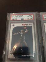 (2) 2019-20 Panini NBA Hoops #258 Zion Williamson Pelicans Rookie PSA 8 NM-MT