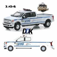 GREENLIGHT 46020F 2019 NYPD FORD F-350 DUALLY DIECAST PICKUP TRUCK 1:64