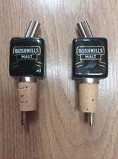 BUSHMILLS IRISH WHISKEY CERAMIC POURERS X 2 *Brand New*