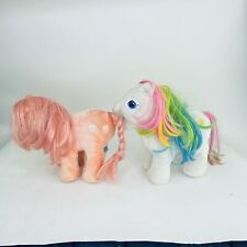 "Hasbro My Little Pony Plush Softies Pegasus Starshine 10"" Rainbow Pink 1984"