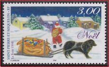 SAINT PIERRE ET MIQUELON N°685** Père Noël, Chien, 1997 SPM Christmas, Dog MNH