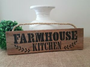 BLACK FARMHOUSE KITCHEN WOODEN COUNTRY WALL SIGN PLAQUE